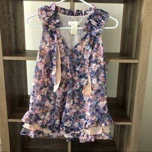 MM Couture Floral Blouse Tank - Worn Once